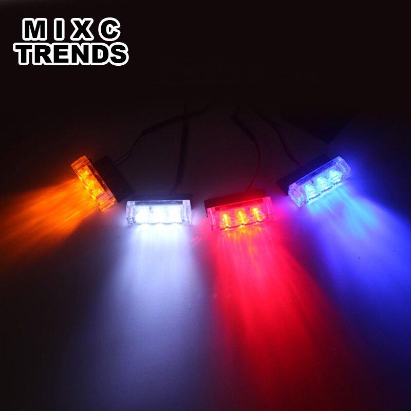 MIXC TRENDS Motosiklet Strobe Flash Light DC 12V 4x3 işıqlı yanan - Avtomobil işıqları - Fotoqrafiya 5