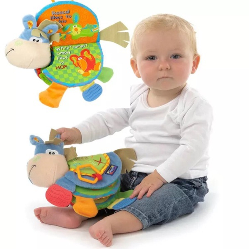 Toys For 0 12 Months : Animal cloth book baby toys months activity