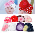 1Pc Hot Baby Cotton Hat Beanie Toddler Girl Flower Accessories Hat Photography Props