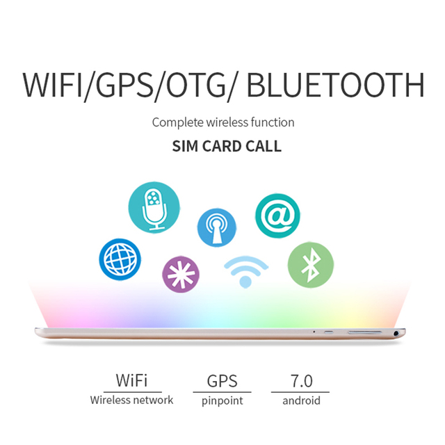 New 10.2 inch 3G Phone Call Android 7.0 Octa Core IPS 1920x1280 pc Tablet WiFi 4G+64G 7 8 9 10 android tablet pc 4GLTE Bluetooth 3