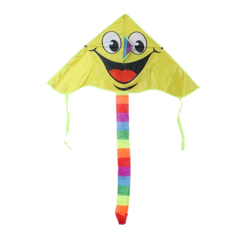 Cartoon Smiling Face Kite For Kids Outdoor Sports Smiley Animation Flying Kites