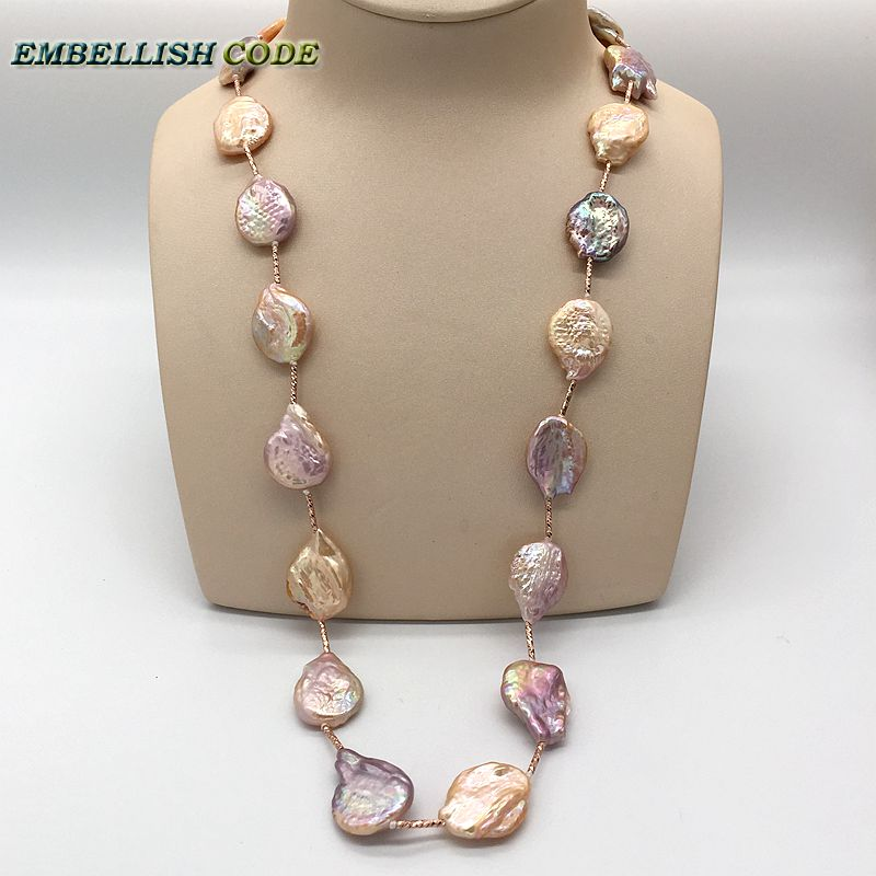 any clothes Elegant Irregular baroque pearls long necklace necktie peach purple with red golden beads dangle 65cm for women exetera argenti фигурка firesse 9х10х19 см