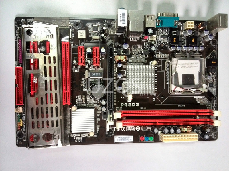 Biostar 100%Original Gigabit DDR3 Lga 775 Desktop for P43D3 4G Mainboard