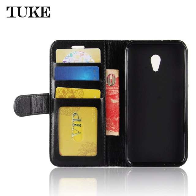 TUKE Case For Alcatel U5 Case Luxury Leather Wallet Silicone Flip Cover  Phone Bag Etui for Alcatel U5 3G 4047D U5 HD A7 Cover