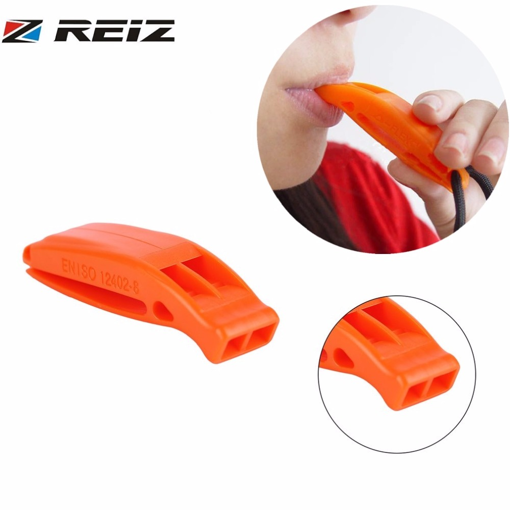 Durable Lightweight Non-corrosive Portable Outdoor Survival Rescue Emergency Plastic Loud Whistle With Built In Clip