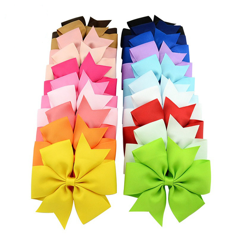 1PCS Lovely Headband Solid Girl Headwear Bow Hairpin For Girls,Hair Band For Kids Large DIY Bowknot Headwear Hair Accessories diy lovely baby big bow plaid headwrap for kids bowknot hair accessories children cotton headband girls gifts