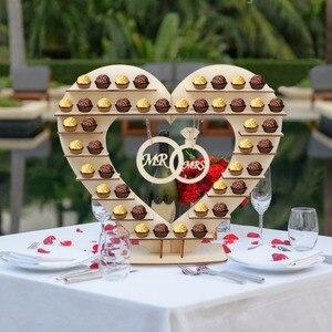 Image 5 - OurWarm DIY כפרי חתונה עץ הודעה לוח ממתק בעל כרטיס תיבת טבעת תיבת מתנות לאורחים המפלגה טובות חתונה קישוט