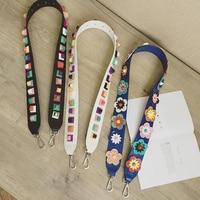 Colorful Rivet Handbags Belts Women Bags Strap Women Bag Accessory Bags Parts Pu Leather Icon Bag