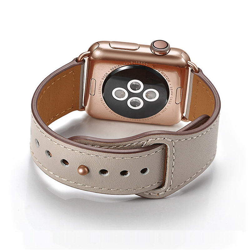 Genuine Leather Band Strap For Apple Watch 42mm 44mm , VIOTOO Watch Accessories Leather WatchBand Strap For IWatch Bracelet