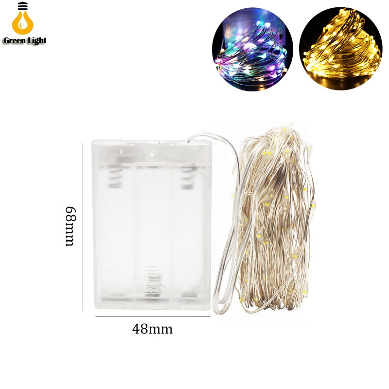10M 5M 2m 100LED 3XAA Battery LED String Lights For Xmas Garland Party Wedding Decoration Christmas Tree Flasher Fairy Lights