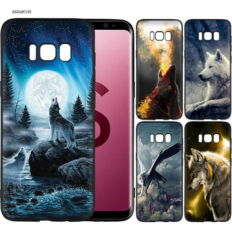 Wolf dragon animals Black Soft Silicone Case Cover Shell Coque for Samsung Galaxy S9 S8 Plus S7 S6 Edge S9+ S8+