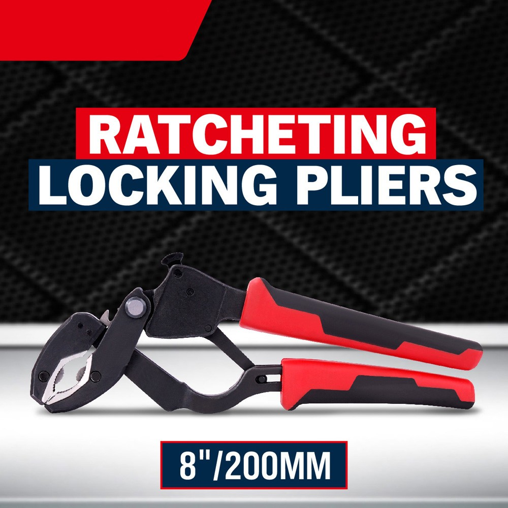 ФОТО Free Shipping Ratch Lock Ratcheting Locking Pliers Holding Pliers Holding Bolt Standard Repair Car Bicycle Hand Tools AD1017