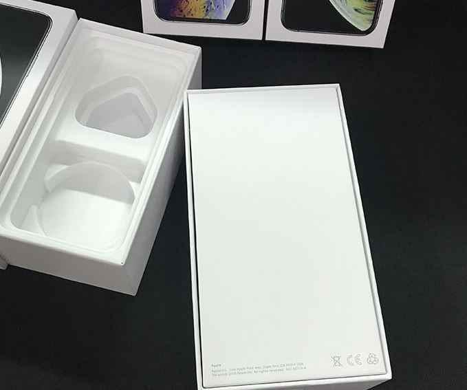 10 個 iphone XS 最大 XR 米国、 EU 版空電話パッケージ梱包箱ケース付属品なしでリテールボックスプリント IMEi 番号