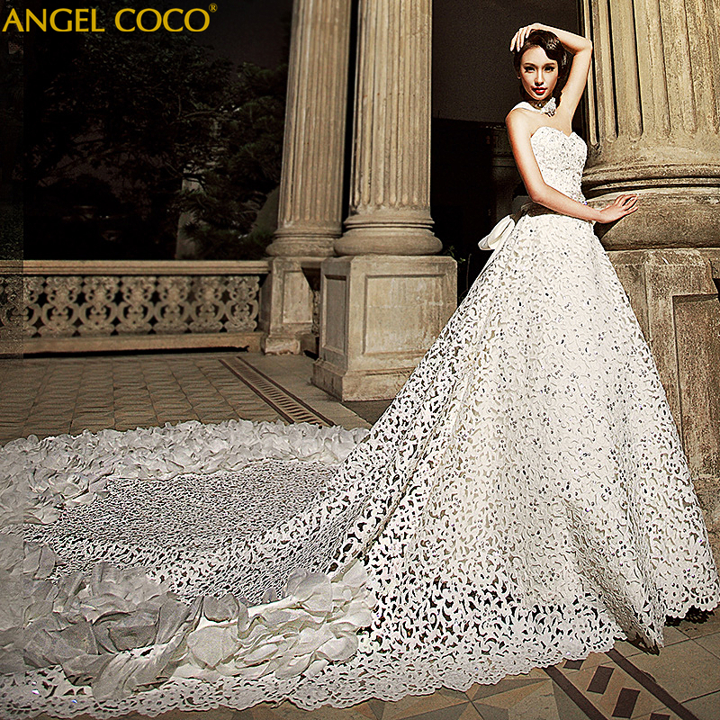 Luxury Maternity Wedding Dresses Hollow Embroidery Cathedral Train Beads Sexy Wedding Dress 2019 Robe De Mariee Bridal Gown