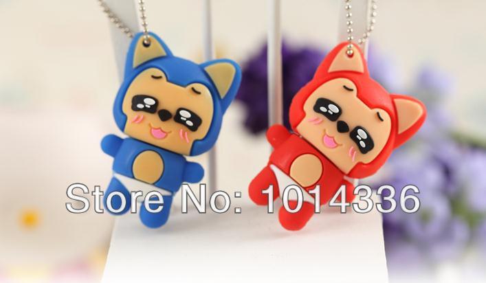 little fox usb flash drives thumb pendrive u disk usb creativo memory stick wholesale 4/8/16/32/64GB S378