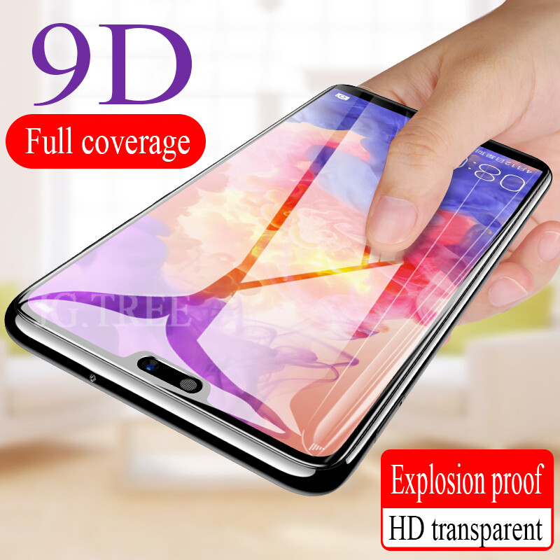 9D Full Cover Screen Protector Glass on the For Huawei P20 P10 Lite Pro Tempered Glass For Honor 8X 9 8 10 lite Protective Film