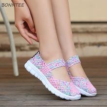 Vulcanize Shoes Women Weaving Elastic Ba