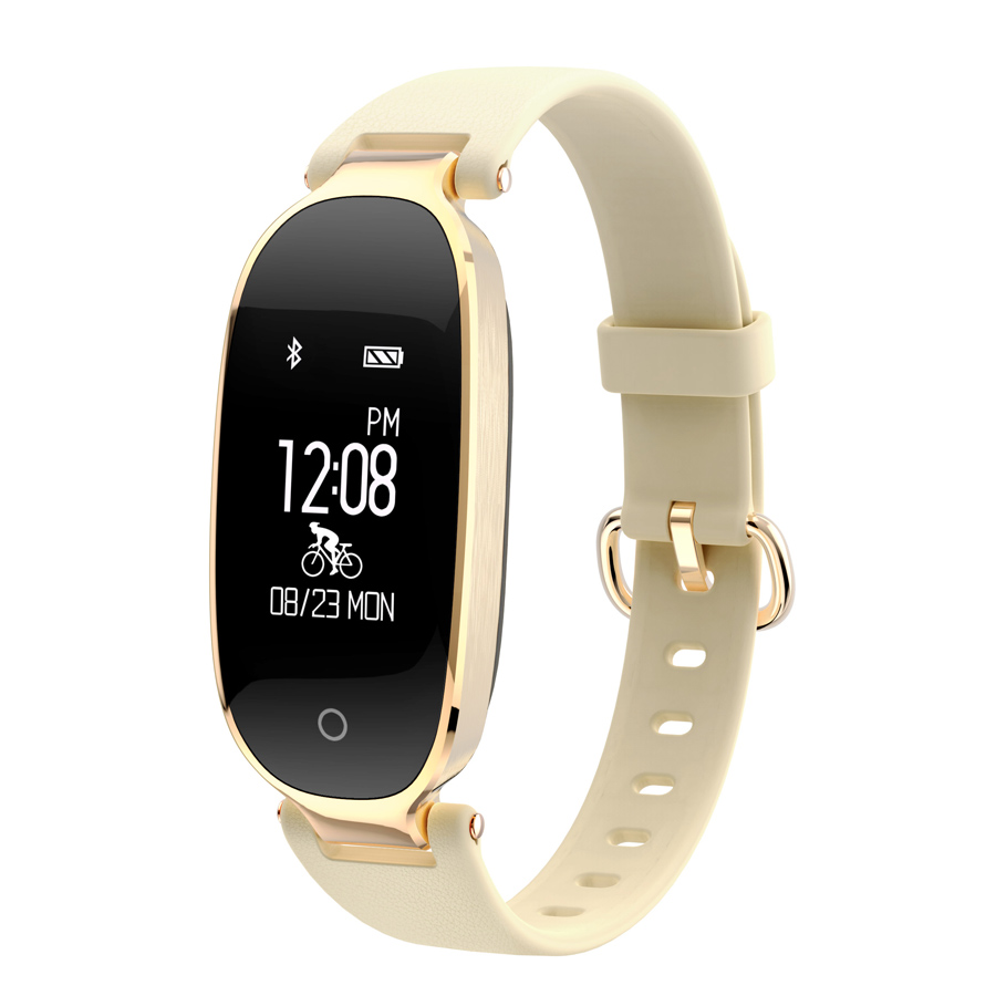 Moniteur de fréquence cardiaque bande intelligente dames montre bracelets imperméables rappel d'appel Bracelet pour iPhone 7 8X6 S Samsung Galaxy S9-in Bracelets connectés from Electronique    1