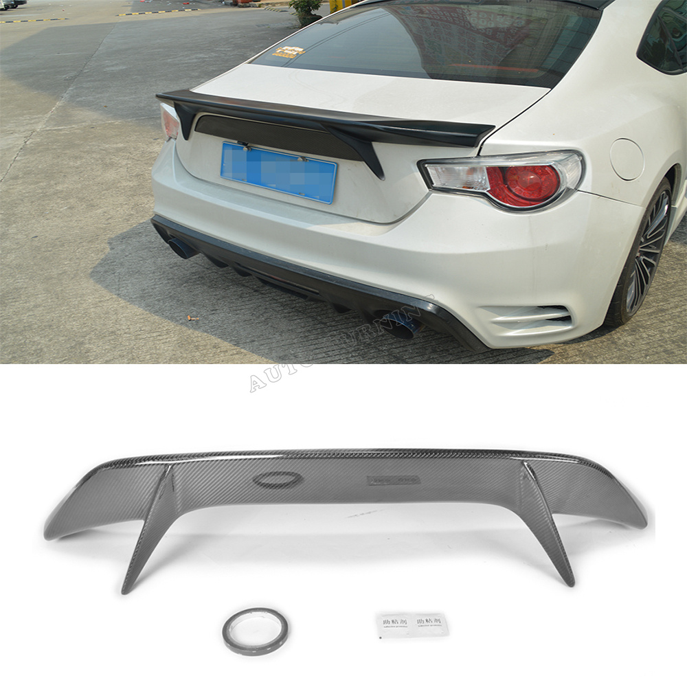 Online buy wholesale subaru spoiler from china subaru spoiler carbon fiber car styling auto car rear trunk wing lip spoiler for subaru gt86 ft86 brz vanachro Gallery