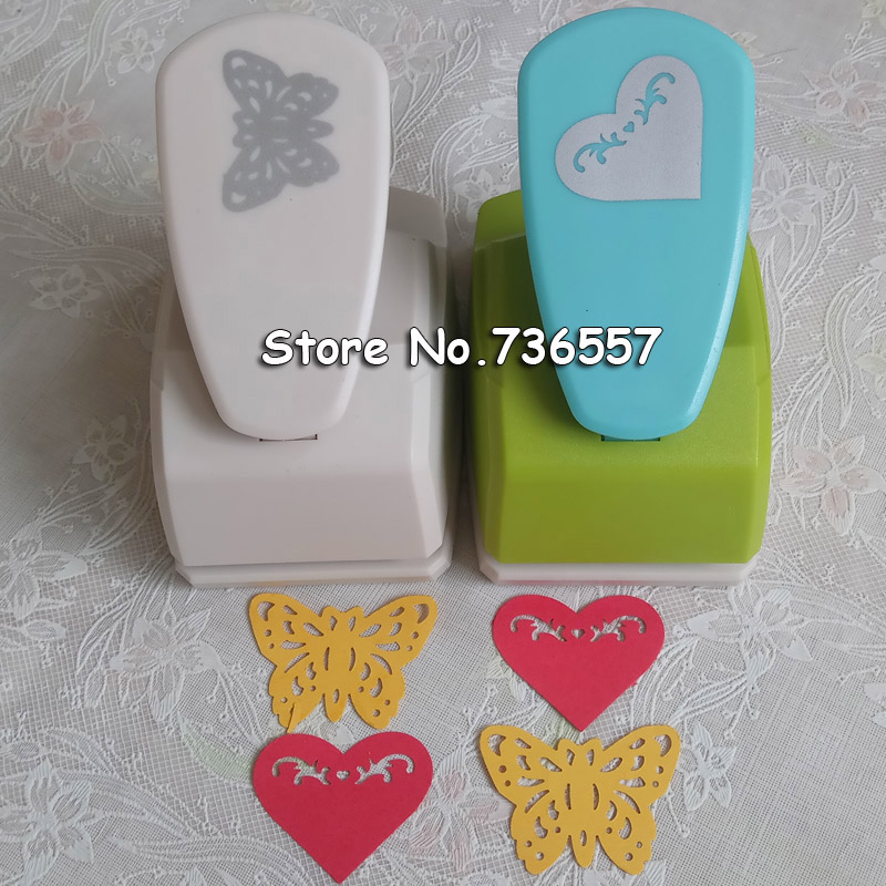 43mm Butterfly Punches Limited Edition Large Craft Punches Decorative Hole Punch Very Beautiful Hollow Heart Flower Puncher