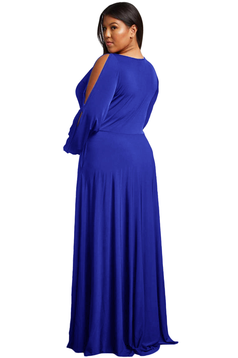 Royal-Blue-Split-Long-Sleeve-Plus-Size-Maxi-Dress-LC610516-5-3