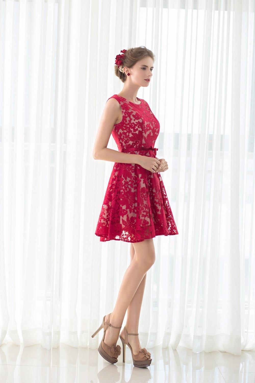 100% Real Images 8th Grade Prom Dresses Burgundy Black Cocktail ...