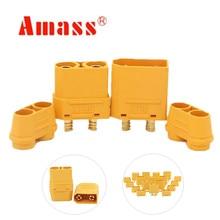 20 çift AMASS XT90H koruyucu yalıtım uç kapağı konnektörleri erkek kadın XT90 RC hobi modeli lipo pil 40% kapalı