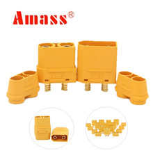 20 pairs AMASS XT90H with protective insulating end cap connectors male female XT90 for RC hobby model lipo battery 40%off