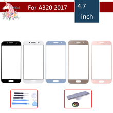 For Samsung Galaxy A3 2017 A320 A320F SM-A320F A320Y Front Outer Glass Lens Touch Screen Panel Replacement цены