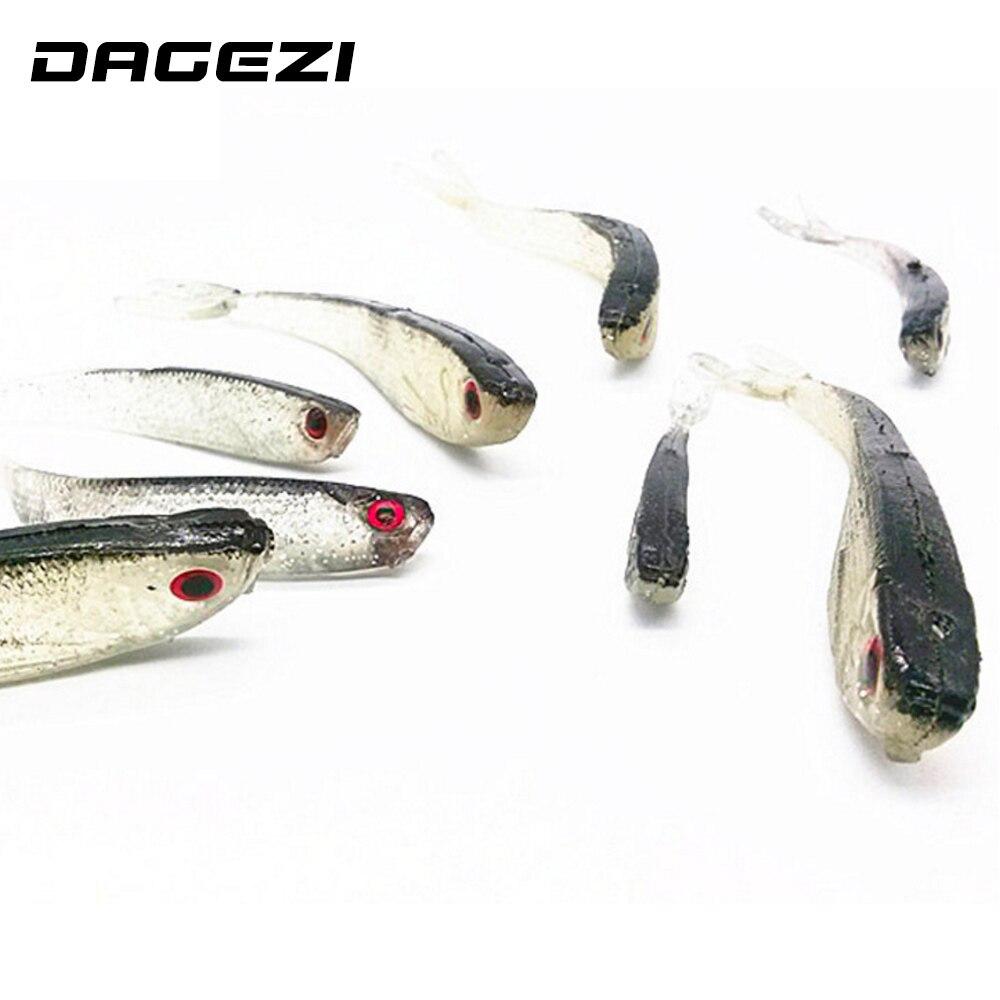 10pcs Lot 75mm Soft Silicone Tiddler Bait Fluke Fish Fishing Lure Saltwat Hot