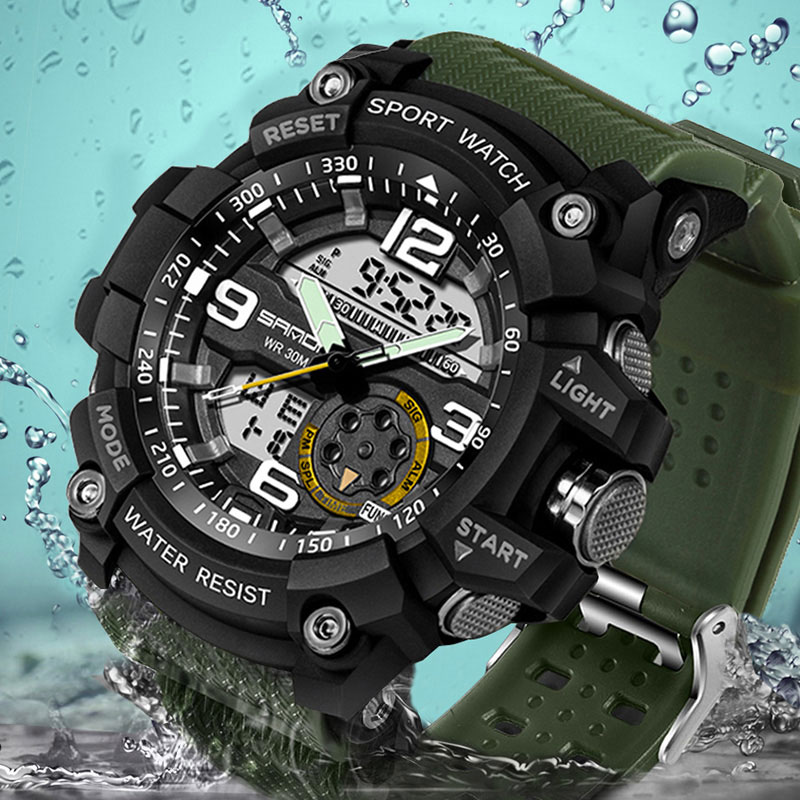 SANDA Army Military Sport Watch Men Watches Top Brand Luxury Electronic LED Digital Wristwatch For Male Clock Relogio Masculino sport student children watch kids watches boys girls clock child led digital wristwatch electronic wrist watch for boy girl gift