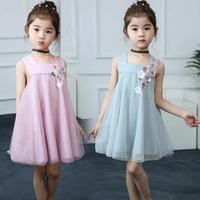 Girl Dress Summer Kids Sleeveless Baby Girls Dresses Korean Printing Lace Newborn A Line Girls Princess