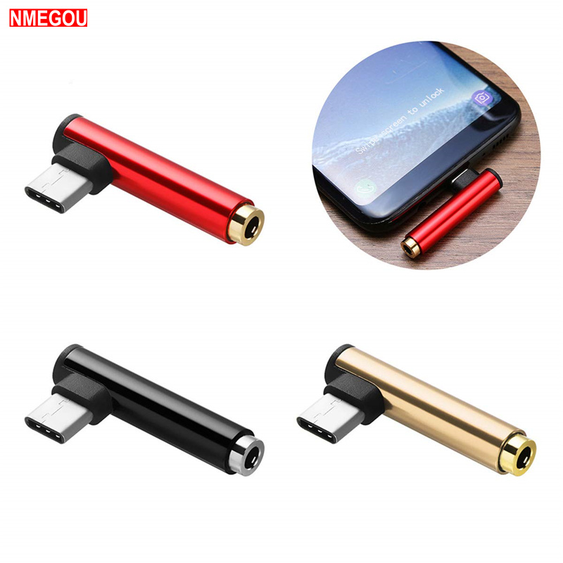 Metal USB Type-C Male To 3.5mm Jack Female Usbc Type C To 3.5 Headphone Audio Aux Adapter For Huawei Mate 20 Pro Xiaomi Mix 2