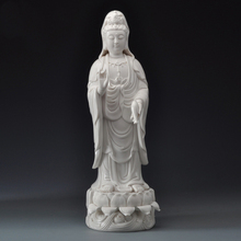 White Buddha Statues Porcelain Christmas Gifts Home Decor Decorative Ceramic Sculpture of the Guanyin Goddess Mercy