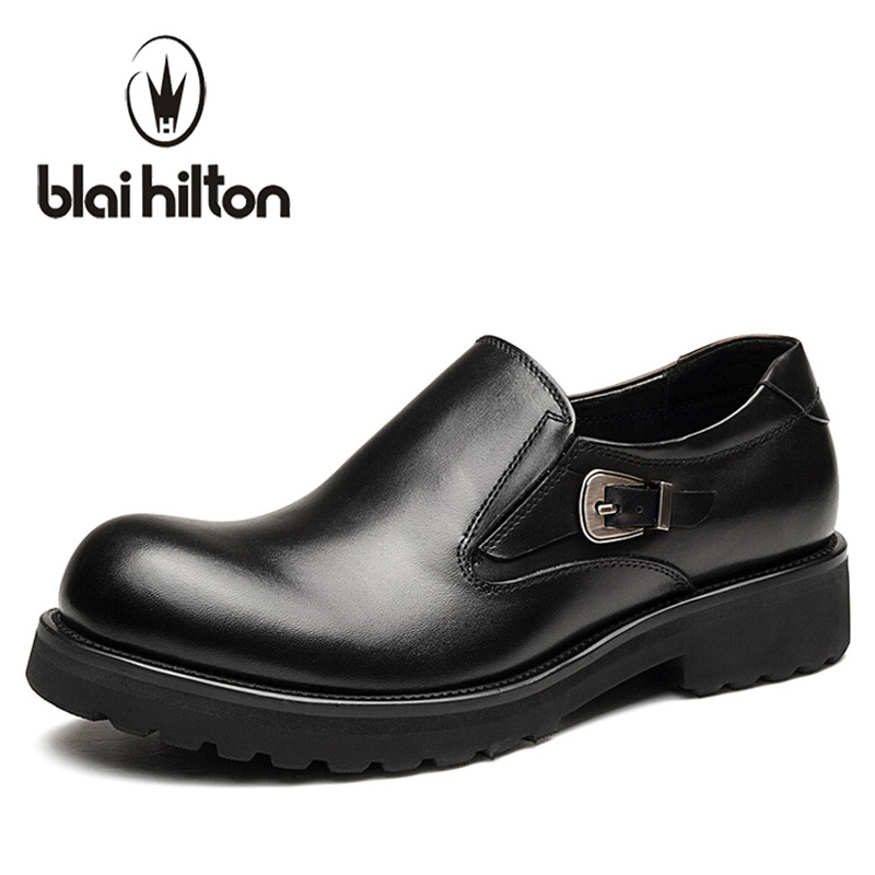 Blai Hilton New Slip On Designer 100% Genuine Leather Business Dress Loafers Men Shoes Classic Fashion Mens Oxfords Casual Shoes собаки от а до я испанский мастиф