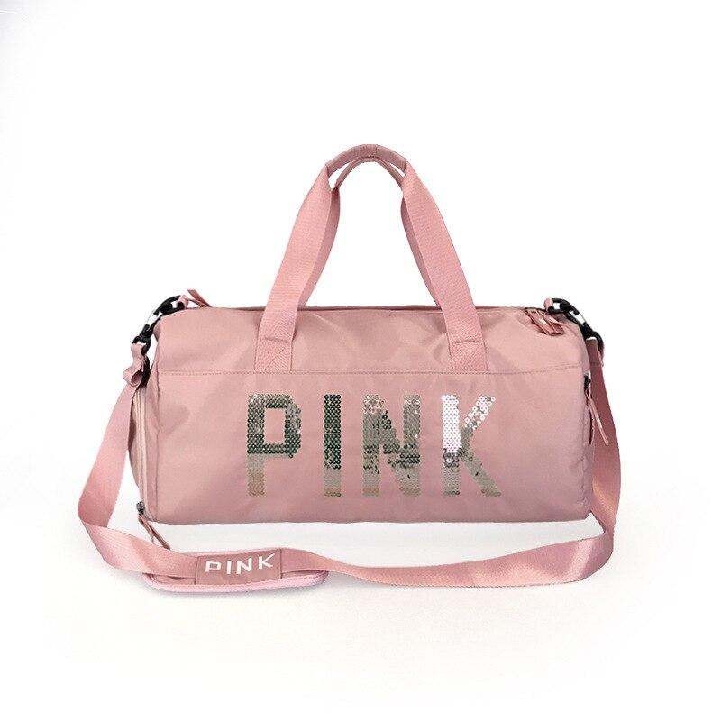 2019 Cheap Sequins Black Gym Bag Women Shoe Compartment Waterproof Sport Bags For Fitness Training Yoga Bolsa Sac De Sport