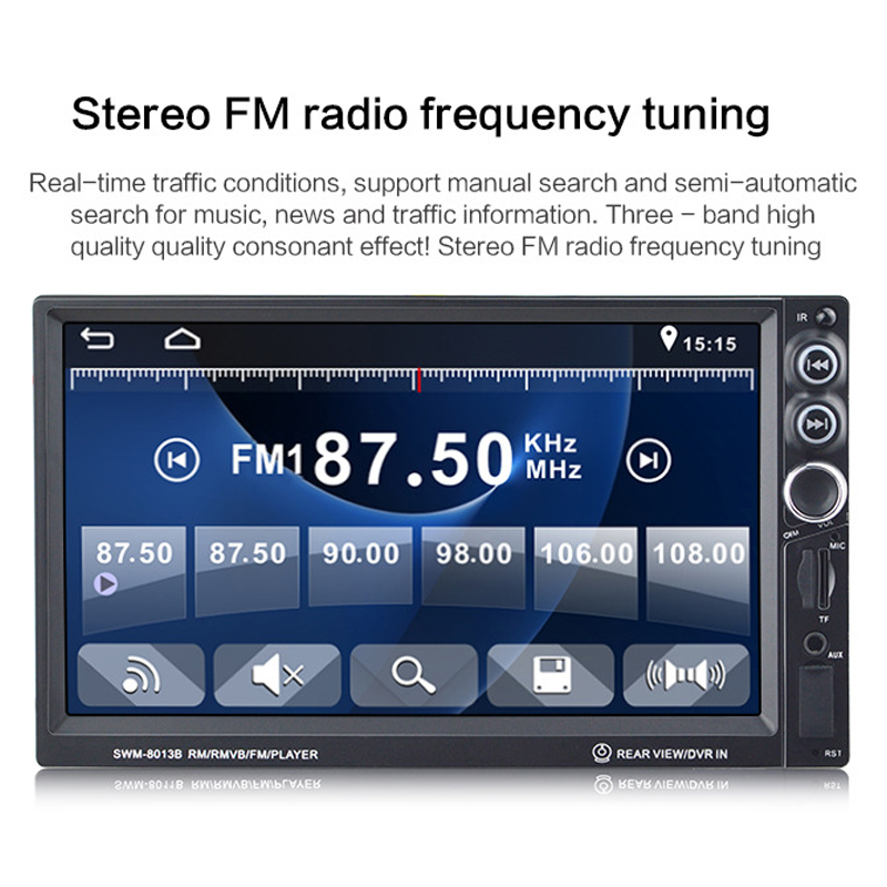 2018 Auto Car Radio High Definition 7 Inch Double Ingot Car Audio and Video MP4 Vehicle MP5 Player Card Radio Reversing Priority