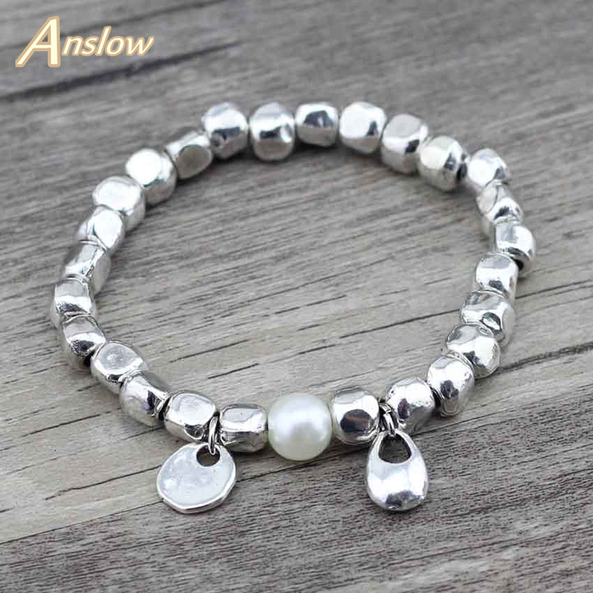 Anslow Trendy Women Simutlated Drop Water Adjustable Leather Bracelet Female Party Jewelry Accessories Free Shipping LOW0410LB