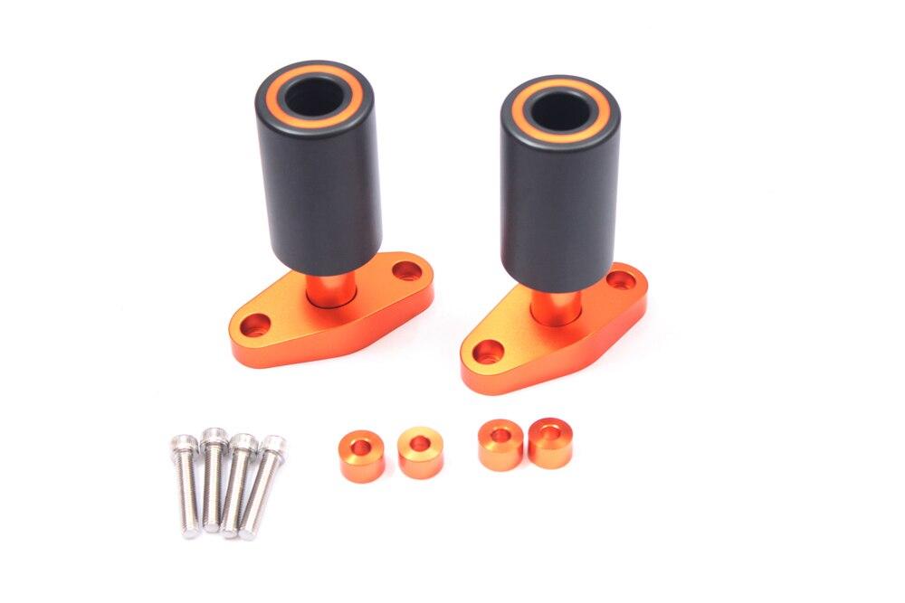 Nouveau Orange CNC cadre curseurs protecteurs garde pour KTM DUKE 125 200 390 2012 13 14 15