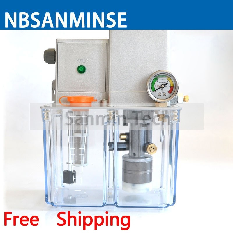 NBSANMINSE SDR5-32 Lubricating Pump AC 380 Volt 50 Hz 3 Liter 2 Mpa with overflow valve For CNC Printer MachineNBSANMINSE SDR5-32 Lubricating Pump AC 380 Volt 50 Hz 3 Liter 2 Mpa with overflow valve For CNC Printer Machine