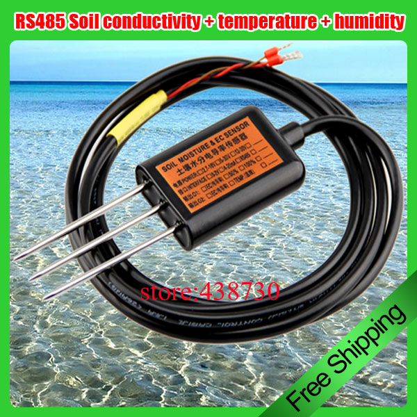 Soil salt transmitter soil conductivity transmitter soil EC sensor temperature and humidity transmitter