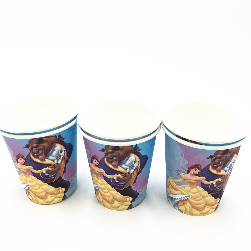 10pcs/lot Beauty beast cups kids birthday party supplies