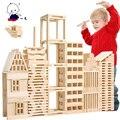 Бесплатная доставка! Детские игрушки 100 шт. городских кварталов по уходу за детьми строительных деревянные блоки развивающие игрушки подарок для ребенка популярные игры