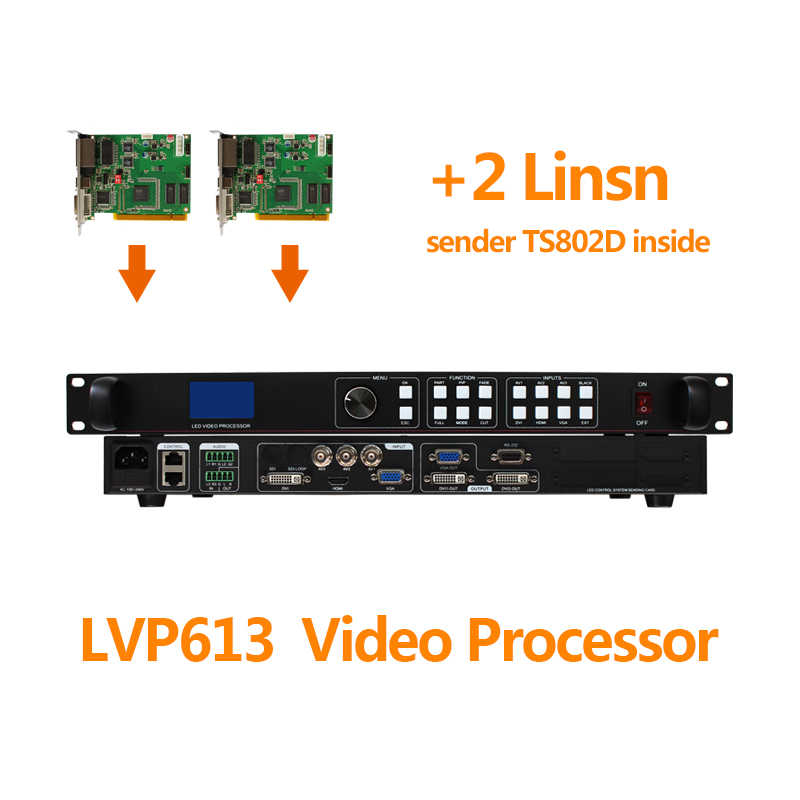 Audio in & out video controller con 2 linsn ts802d carta di invio confrontare vp1000 per P4 morbida e flessibile di colore completo pannello led