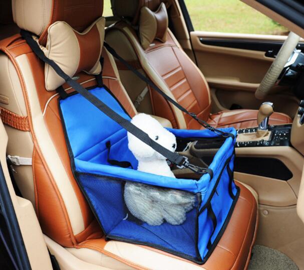 900D нейлон Водонепроницаемый путешествия носителей для собак складной Толстая кошка собака детское сиденье автомобиля крышка открытый Pet м...
