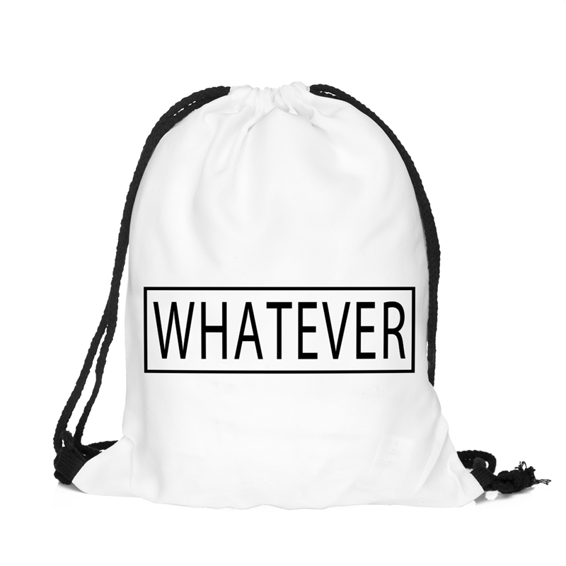 Online Shop Harajuku whatever white Printing Backpacks Women Men ...