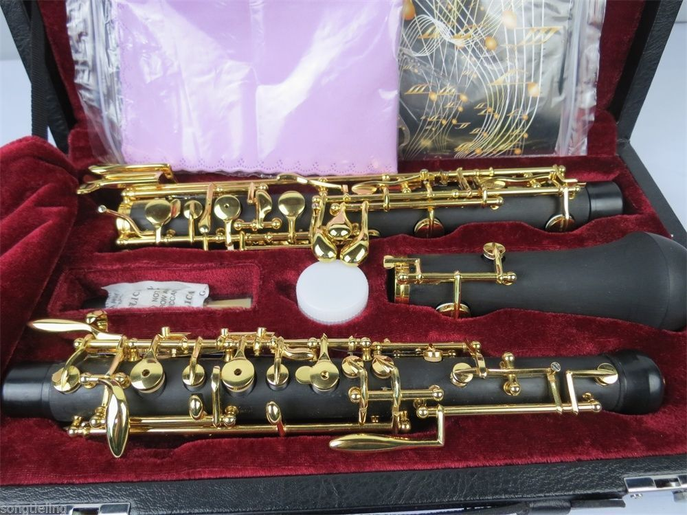 Strong-Willed Semiautomatic Composite Wood Concert Oboe,gold-plating C Key