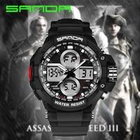 Mens Watches Top Brand Luxury SANDA G Fashion Sport Shock Watch Male Military Quartz Digital Wrist watches for Men reloj hombre