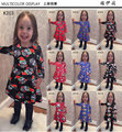 2016 autumn and winter  new Christmas children's clothing Europe and Americia style children's girls dress