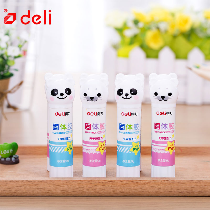 Deli 8PCS/Lot Solid Glue Stick DIY Cute Kawaii Strong Adhesives Glue Stick Student Stationery Solid Glue School Supplies